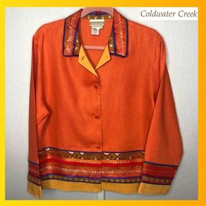 Coldwater Creek Size M Linen/Acetate/Rayon Jacket
